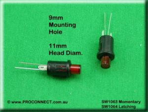 Push button switch SW1063 AND SW1064