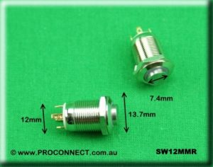 Push button switch SW12MMR