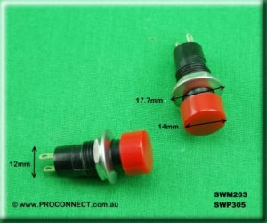 Push button switch SWM203 AND SWP305